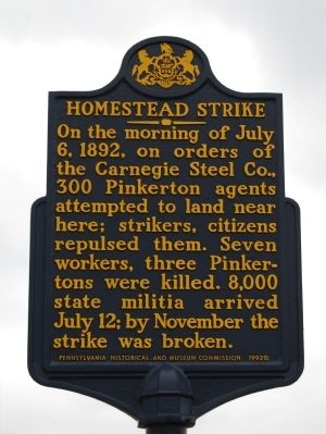 Homestead Strike Marker image. Click for full size.
