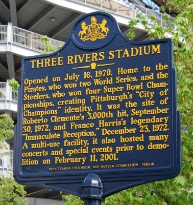 Three Rivers Stadium Marker image. Click for full size.
