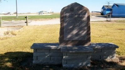 Butler Memorial Airport Marker image. Click for full size.