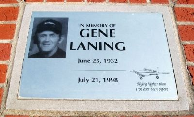 Gene Laning Memorial Marker image. Click for full size.