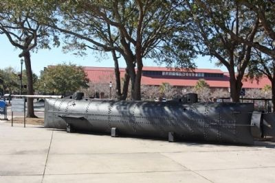 The Civil War Submarine, <i> H.L. Hunley</i> Marker image. Click for full size.