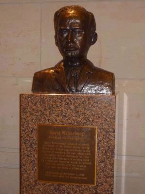 """Raoul Wallenberg - Swedish Humanitarian"" <br>bust in the U.S. Capitol image. Click for full size."