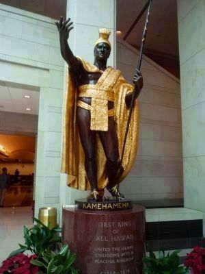 <i>King Kamehameha I: First King of All Hawaii...</i><br>Statue in Washington D.C. image. Click for full size.