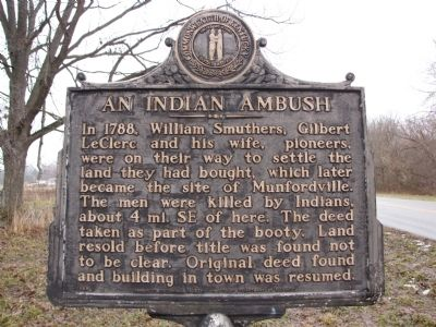 An Indian Ambush Marker image. Click for full size.