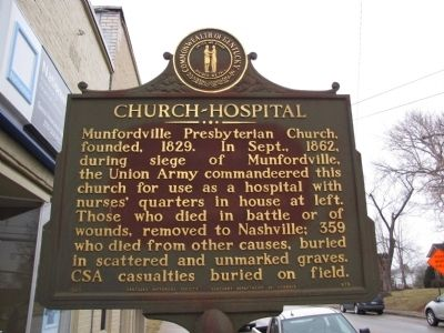Church-Hospital Marker image. Click for full size.