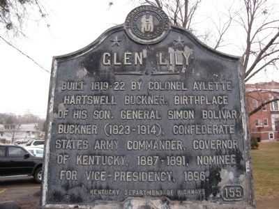 Glen Lily Marker image. Click for full size.