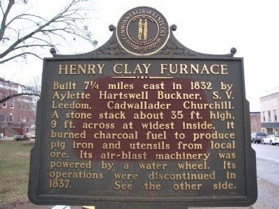 Henry Clay Furnace Marker image. Click for full size.