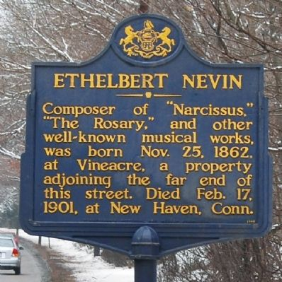 Ethelbert Nevin Marker image. Click for full size.