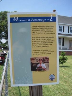 Methodist Parsonage Marker image. Click for full size.