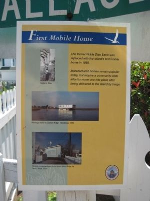 First Mobile Home Marker image. Click for full size.