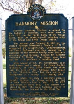 Harmony Mission Marker (Front) image. Click for full size.