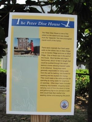 The Peter Dise House Marker image. Click for full size.