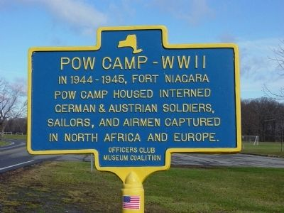POW Camp WW II Marker image. Click for full size.
