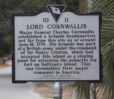 Lord Cornwallis Marker image. Click for full size.