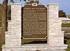 Green Bay Packers Marker image. Click for full size.
