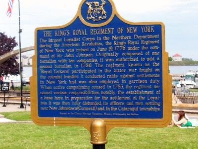 The King's Royal Regiment of New York Marker image. Click for full size.