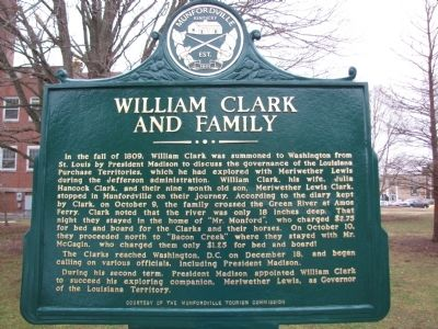 William Clark and Family Marker image. Click for full size.