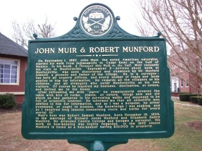 John Muir & Robert Munford Marker image. Click for full size.
