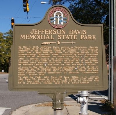 Jefferson Davis Memorial State Park Marker image. Click for full size.