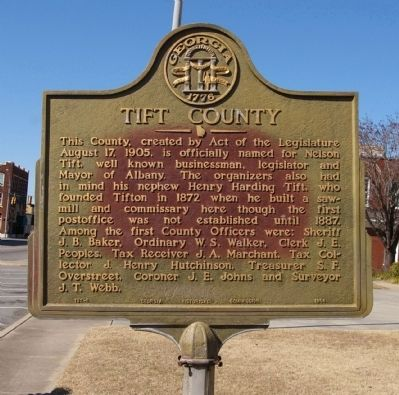 Tift County Marker image. Click for full size.