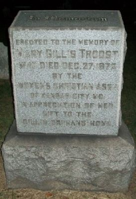 Mary Gillis Troost Monument image. Click for full size.