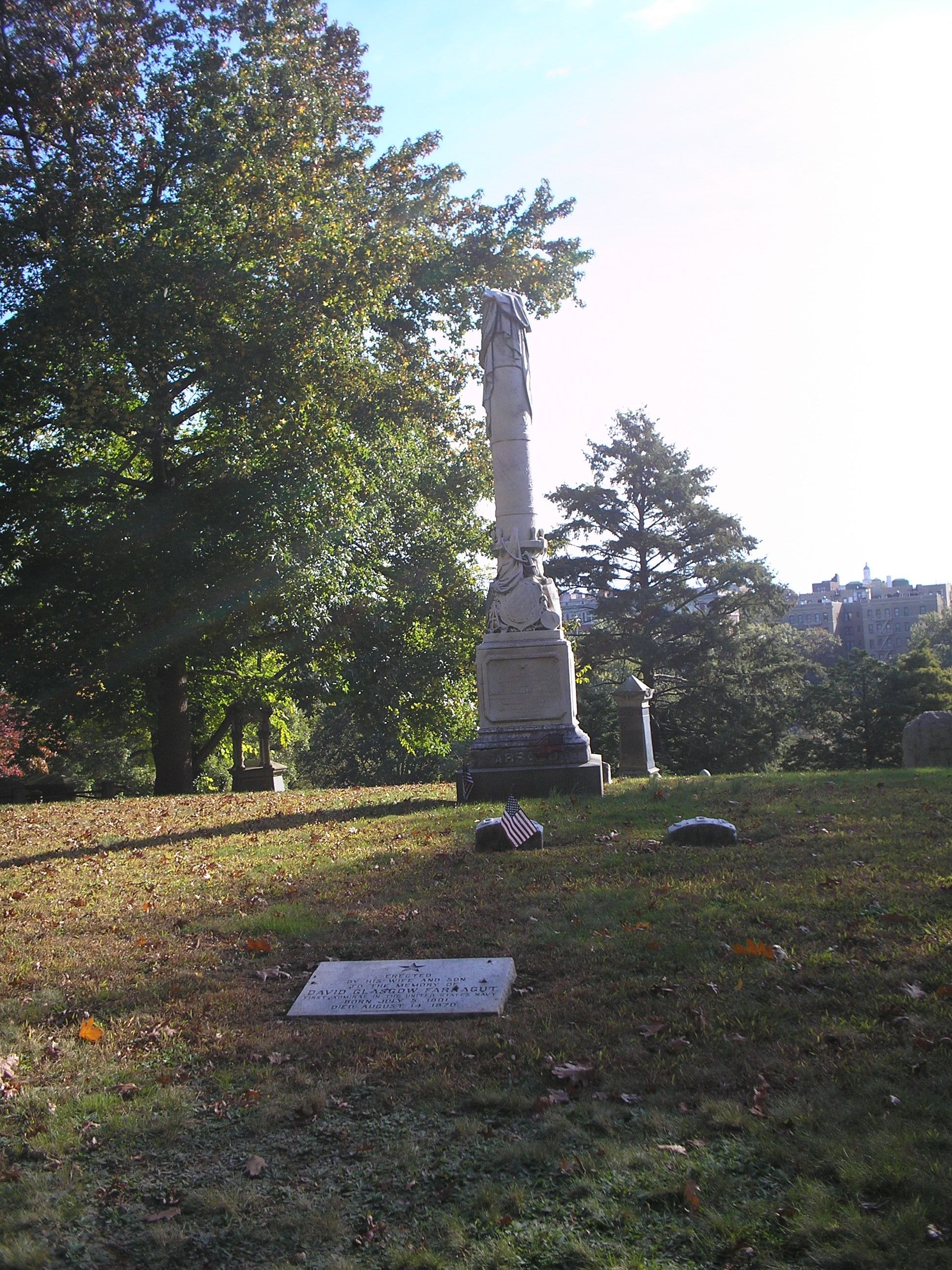 Marker in Woodlawn Cemetery