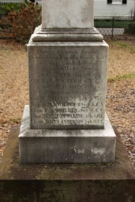 Confederate Cemetery / Memorial Marker, north face image. Click for full size.