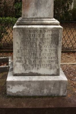 Confederate Cemetery / Memorial Marker, west face image. Click for full size.