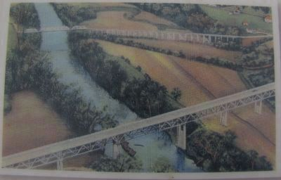 The L&N Turnpike Bridge and the Buckner Memorial Bridge. image. Click for full size.