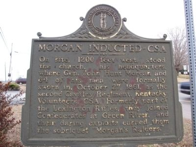 Morgan Inducted - CSA Marker image. Click for full size.