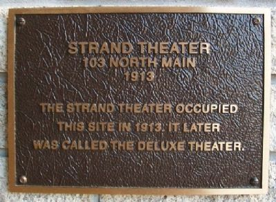 Strand Theater Marker image. Click for full size.