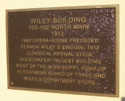 Wiley Building Marker image. Click for full size.