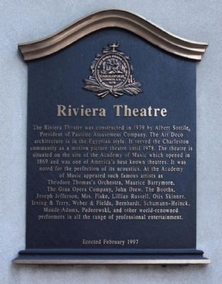 Riviera Theatre Marker image. Click for full size.