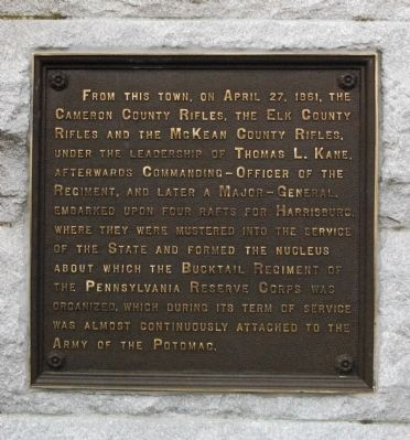 Bucktails Monument Marker Plaque image. Click for full size.