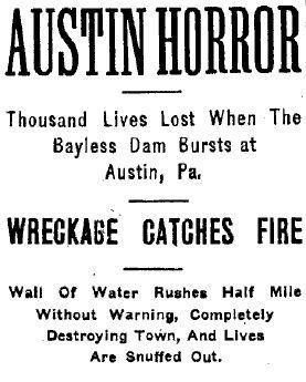 Austin Flood Disaster headlines image. Click for full size.
