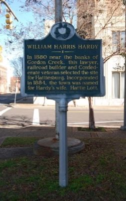 William Harris Hardy Marker image. Click for full size.