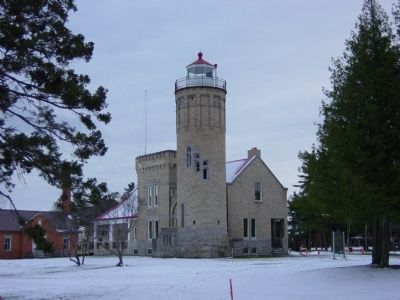 Old Mackinac Point Lighthouse image. Click for full size.