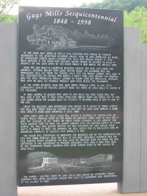 Gays Mills Sesquicentennial Marker image. Click for full size.