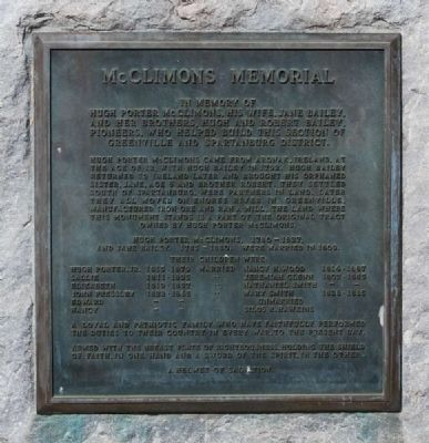 McClimons Memorial Marker image. Click for full size.