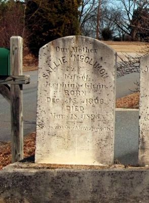 Sallie McClimon Tombstone image. Click for full size.