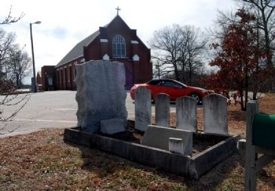 Hugh Porter & Jane Baily McClimon Marker -<br>Liberty Hill United Methodist Church in Background image. Click for full size.