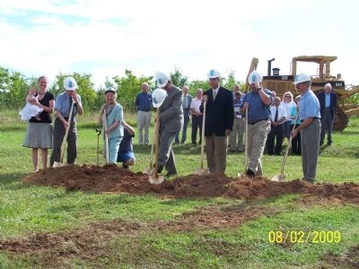 Groundbreaking of Abner Creek Baptist Church image. Click for full size.