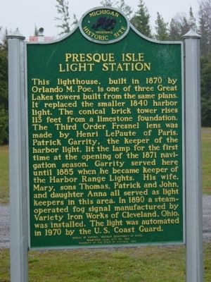 Presque Isle Light Station Marker image. Click for full size.