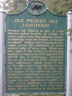 Old Presque Isle Lighthouse Marker image. Click for full size.