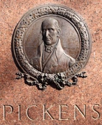 Memory of South Carolina Generals , Pickens Medallion image. Click for full size.