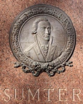 Memory of South Carolina Generals, Sumter Medallion image. Click for full size.