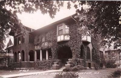 "Presbyterian Manse – The 1912 ""Large Brick Home"" image. Click for full size."
