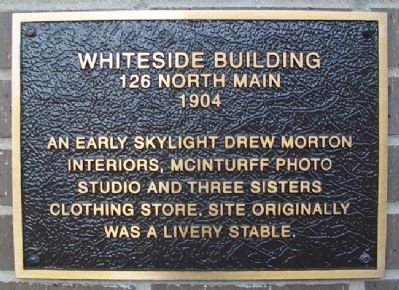 Whiteside Building Marker image. Click for full size.