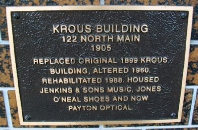 Krous Building Marker image. Click for full size.