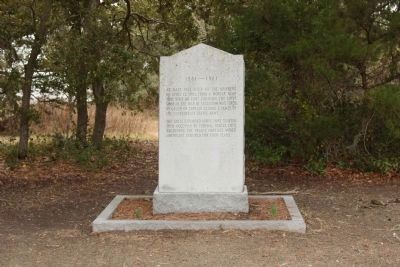 "Site of Fort Johnson , nearby marker for ""The First Shot of the War of Secession "" image. Click for full size."